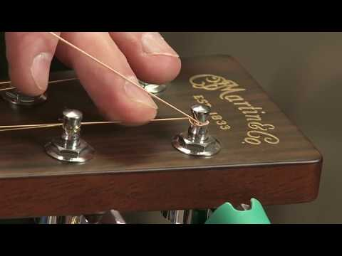 How to Change Strings on (restring) Your Guitar - Art Eichele