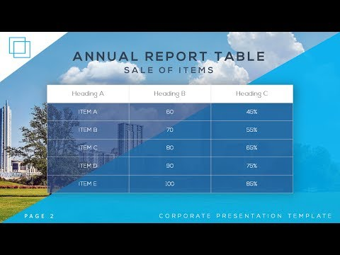 How To Create Tables For Corporate Presentation in Microsoft Office PowerPoint PPT