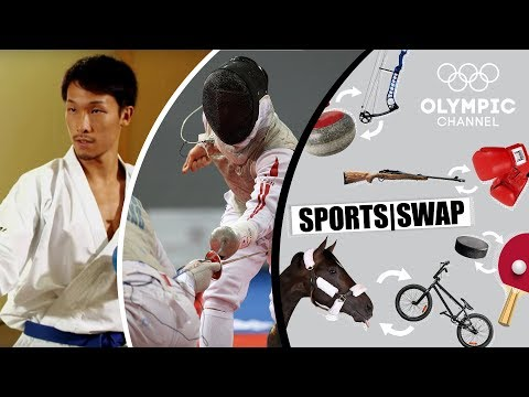 Karate Vs Fencing With Hiroto Gomyo & Kenta Chida | Sports Swap