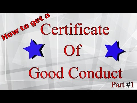 Step by Step getting a Certificate of Good Conduct or Relief Pt. 1