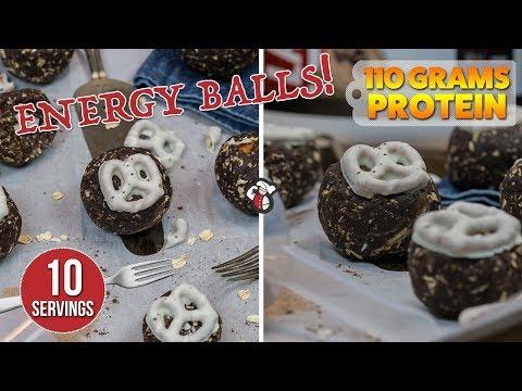No Bake Peanut Butter Pretzel PROTEIN Balls