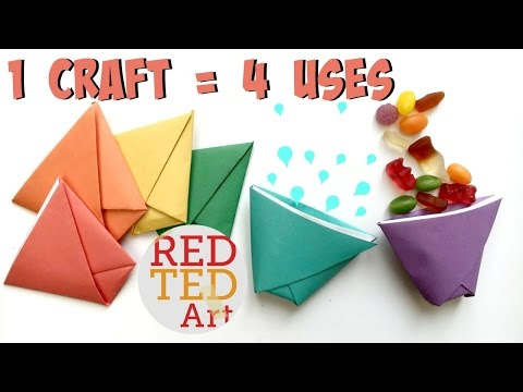 Origami Easy Paper Cup - 1 Craft - 4 Uses!!!
