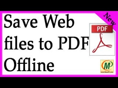 How to Save any Web File into PDF without Installing any Software