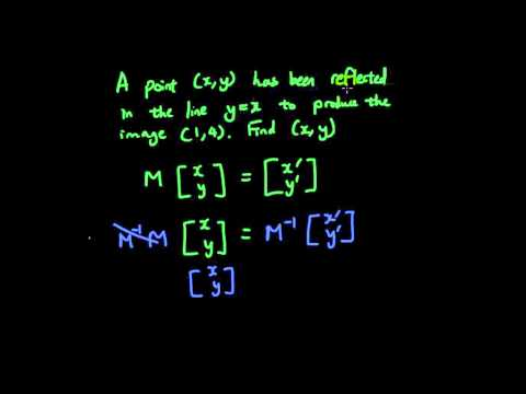 Linear transformations with Matrices lesson 12 - Given the image, find the original point