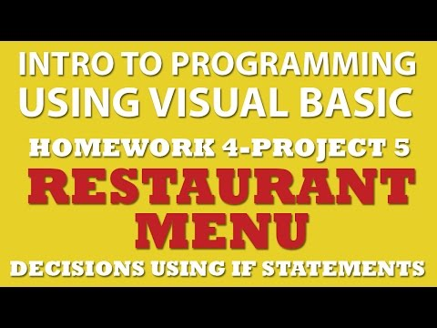 4-pp5 Visual Basic: Restaurant Menu (IF statements)