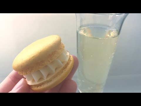 Champagne Macarons for New Years!   HOW TO MAKE FRENCH MACARONS