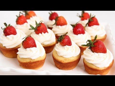 Strawberry Shortcake Cupcakes Recipe - Laura Vitale - Laura in the Kitchen Episode 753