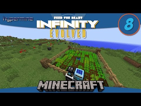 Minecraft Mods: How to build automatic wheat, carrot, and potato farms in FTB Infinity Evolved - E8