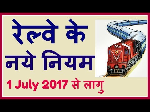 Railway New Rules October 2017 | रेल्वे के नए नियम By Tips And Tricks ...!!!