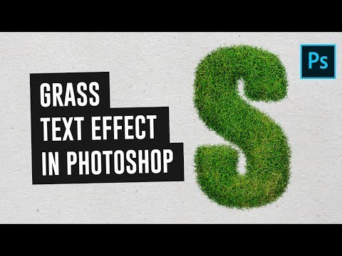 How to Create Grass Text Effect in Photoshop CC (2018) - Urdu / Hindi Tutorial
