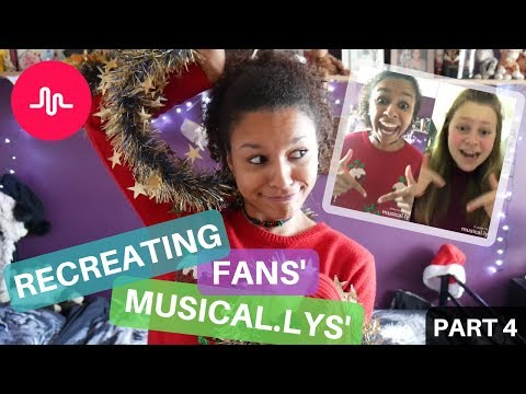 Remaking Fans' Musical.ly Videos - Christmas Style!