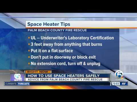 Keep warm and safe with these space heater safety tips