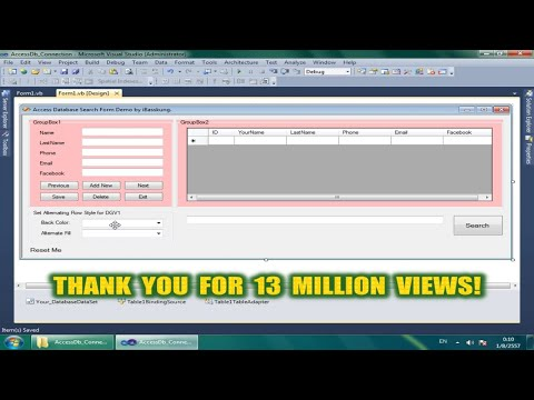 Visual Basic .Net : Search in Access Database - DataGridView BindingSource Filter Part 1/2