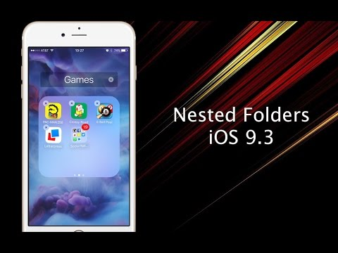 How to create nested folders on your iPhone or iPad in iOS 9.3 - iPhone Hacks