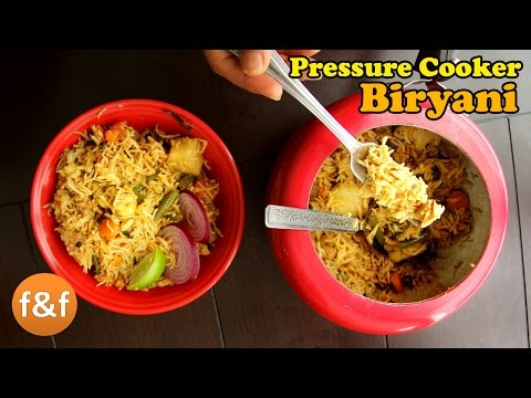 Vegetable Biryani | Quick Pressure Cooker Biryani | Veg Biryani in Pressure Cooker - Indian Recipes
