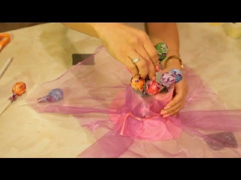 How to Make a Lollipop Holder for a Birthday Party : Decoration Crafts