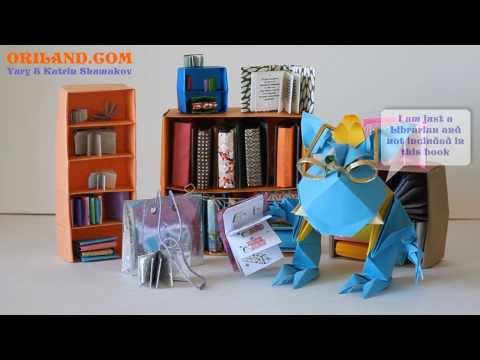 Origami Mini Library (book presentation)