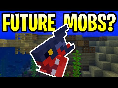 Minecraft Update Aquatic Future Mobs? Sharks, Whales & Kraken! PE, Xbox, PS4 & Switch