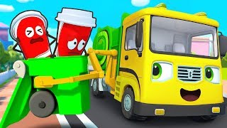 Download Garbage Truck, Fire Truck, Police Car, Ambulance | Cars for Kids | Kids Songs |Kids Cartoon |BabyBus Video