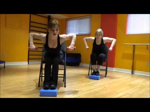 Cardio and Strength exercises on a chair 2 (for people with bad/injured/weak knees or feet).