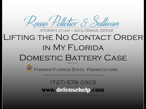 Lifting the Order of No Contact in a Domestic Battery Case