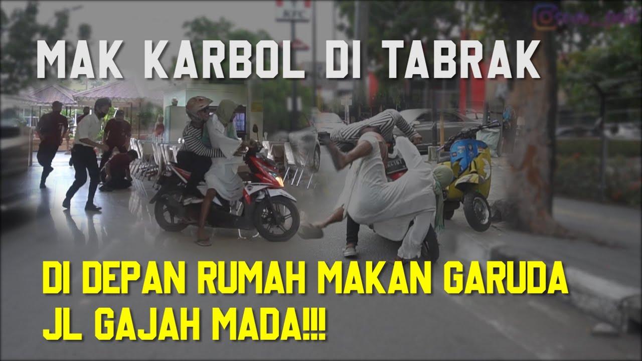 MAMAK KARBOL JATUH DARI KRETA TERBANG KE STELING RUMAH MAKAN GARUDA!!!!