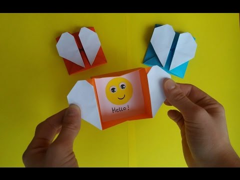 How To Make Origami Heart Box & Envelope