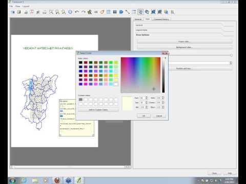 QGIS: Creating Map Layouts - Printing and Exporting