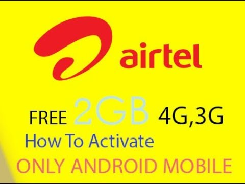 How To Activat Free 2GB Data Balance,4GAnd 3G In Airtel (Tamil)