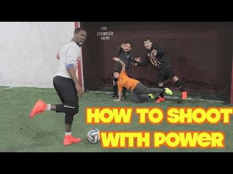 How to improve shooting power -Leg Exercises & Drills for Footballers & GIVEAWAY