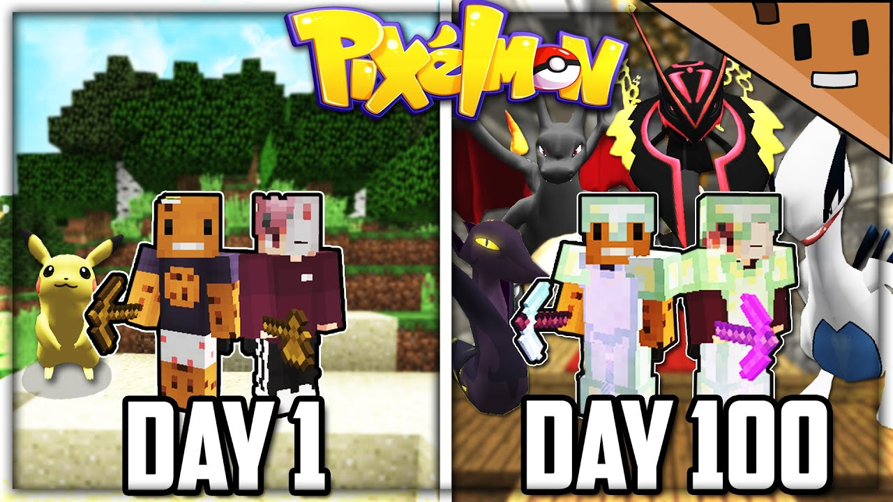 We Spent 100 Days in Minecraft PIXELMON... Here's What Happened (Duo Minecraft)