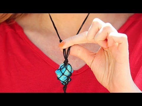 Create A Cool Macrame Necklace - DIY  - Guidecentral