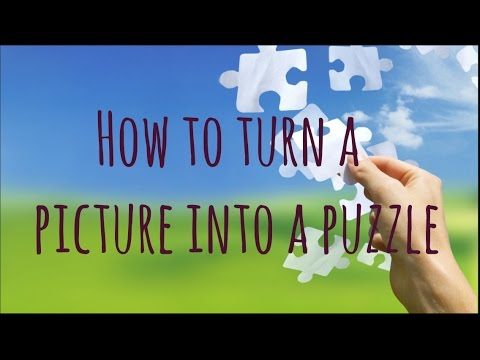 DIY How to Turn a Picture Into a Puzzle ♥︎