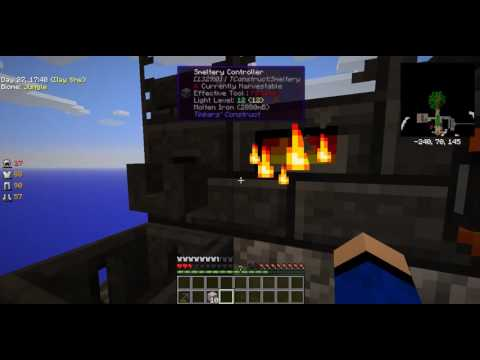 How to make a smeltery in SkyFactory 2