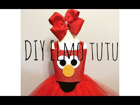 DIY Elmo tutu dress