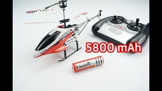 try with a cheap battery 5800 mAh , can it fly?