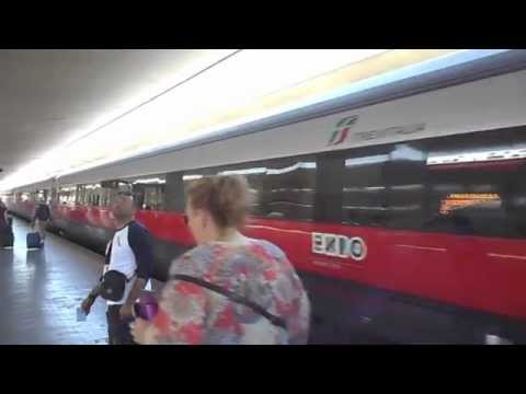 Train Travel at 160 MPH, Florence to Rome