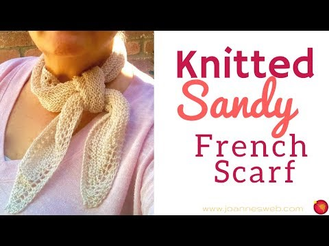 Knitted Sandy French Scarf - How To Knit A Scarf - It's a Wrap Yarn Red Heart