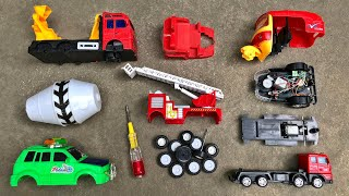 Assemble Toy Vehicles, Indian Auto Rickshaw, Mixer Truck and Fire Truck | Toy Vehicles Attached