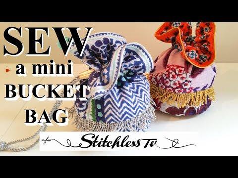 DIY How to sew a Mini Bucket Bag