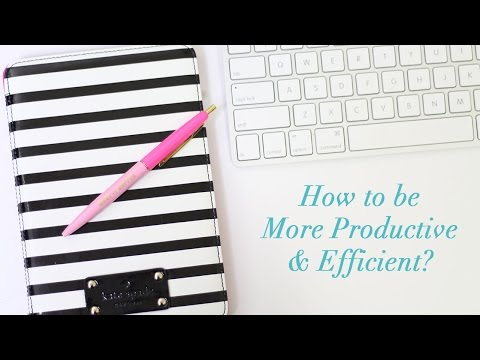 How to Be More Productive & Efficient | Plan with Me!