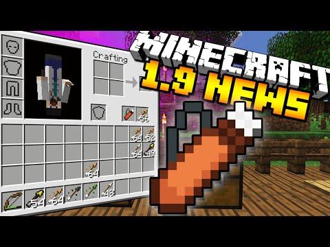 Minecraft 1.9 News - NEW ARROWS, QUIVER, & SHIELDS!!!