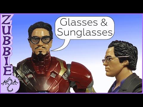 How to Make 1:12 Scale Glasses & Sunglasses, DIY Miniature Eyeglasses