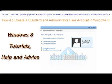 How-To Create a New Standard User and Administrator Account in Windows 8
