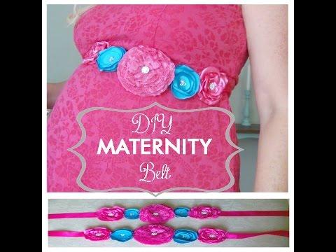 DIY Maternity Sash / Belt AND DIY Boutique Flower