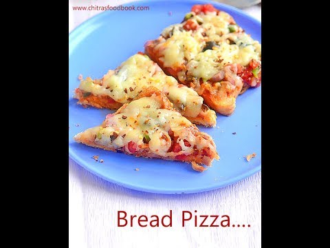 Bread Pizza on Tawa(Without oven),Microwave & Oven - 3 methods