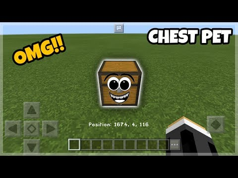MCPE Tutorials: Working Chest Pet using Commands (Minecraft PE 1.1.3)
