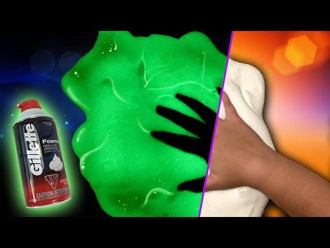 How to Make Fluffy Slime / Glow in the Dark / DIY Slime / No Blacklight Fluffy Slime Recipe