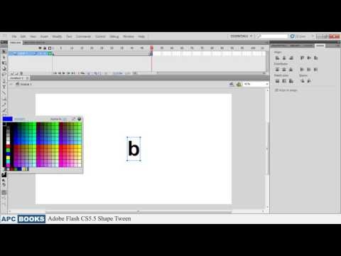 Adobe Flash CS5.5- Shape Tween