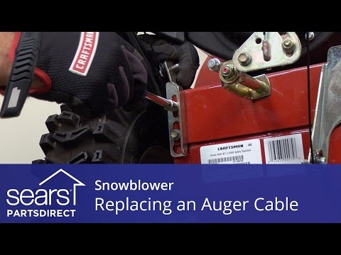 Replacing an Auger Engagement Cable on a Snowblower